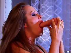Dyanna Lauren is a spectacular milf and she is showing Keiran Lee what she can do with a line of toys that she deepthroats without gagging or shedding a single tear. What a slut!