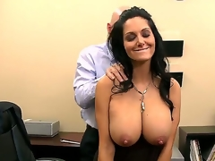 Ava Addams wants to work in Johnnys company, but for that this babe needs to pass his tiny test. Johnny starts with a sensitive massage and then starts licking her nipples. Enjoy