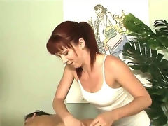 Tough masseuse Trinity Post cant stop rubbing Stephanie Swifts perfectly smooth and round buttocks here in this vid. The babe rocks ass likewise good even for a str8 girl to resist!