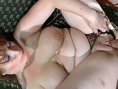 Curvy undressed mommy gets dicked by a nasty guy spying on her in the shower
